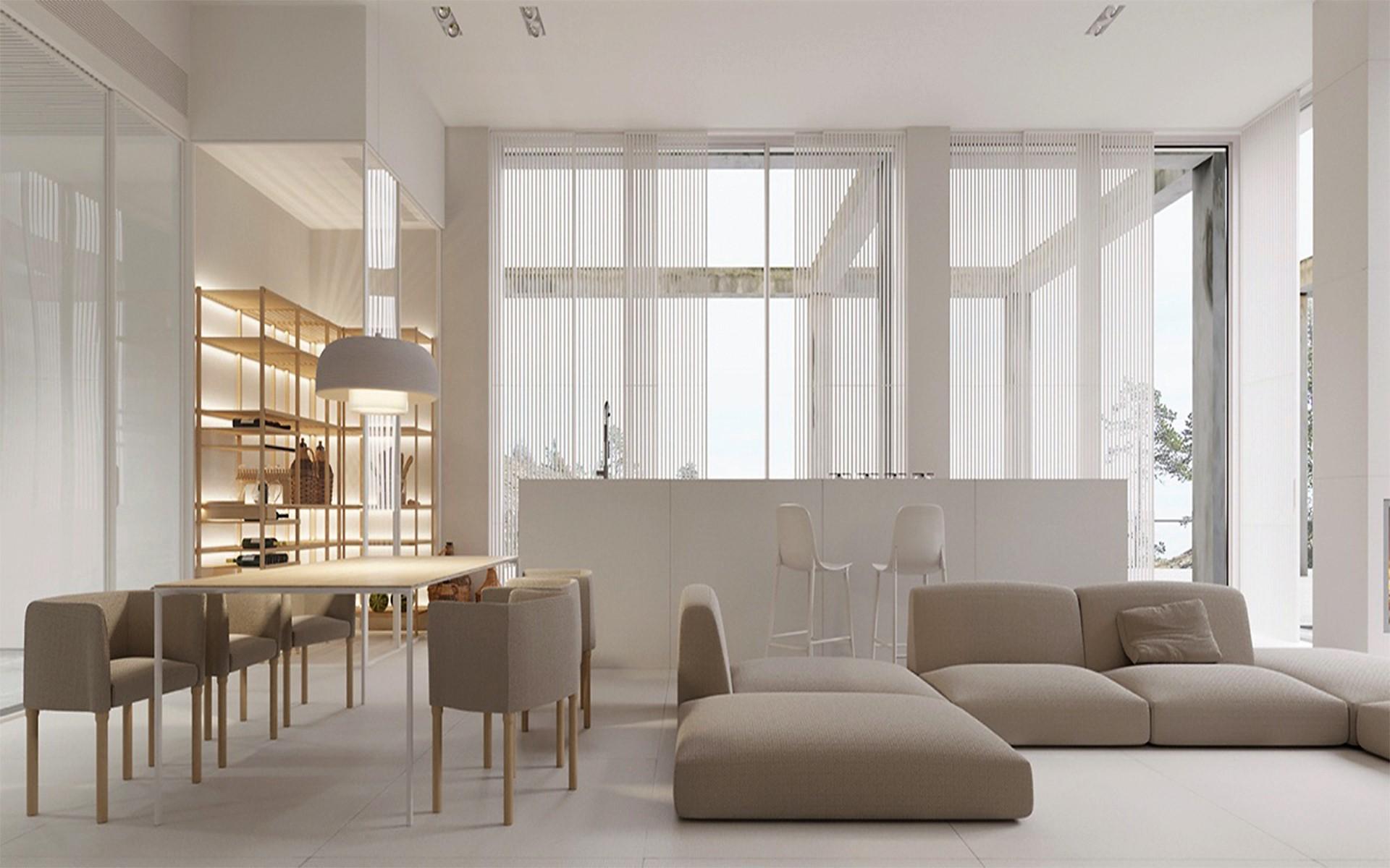 Minimalismo cen rio m veis a loja mais completa em for Ambientes minimalistas interiores