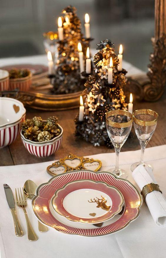 Aparelho de jantar natalino