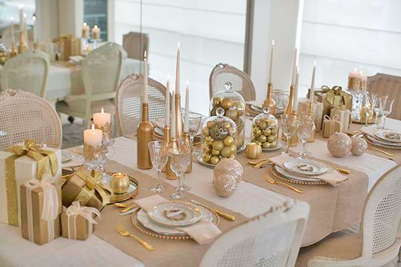 Decoração dourada para o natal